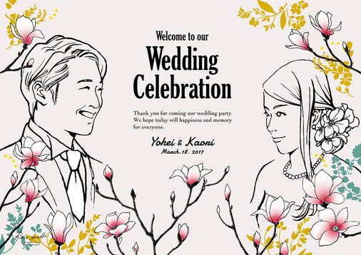 結婚式ウェルカムボード(H様)