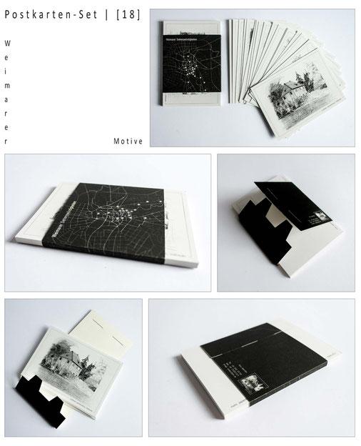 Weimarer Ansichten. Postkarten. Grafik.