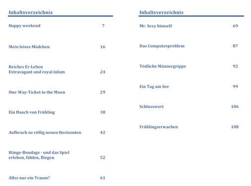 Inhaltsverzeichnis eBook/Buch: So sexy ist Niedersachsen! Band 2 von K.D. Michaelis