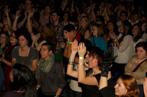 Die Menge in der Germersheimer Stadthalle tobte