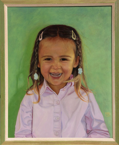 """Portrait """"Denise""""; Öl auf Leinwand, 50 x 40cm, Auftragsarbeit 2015"""