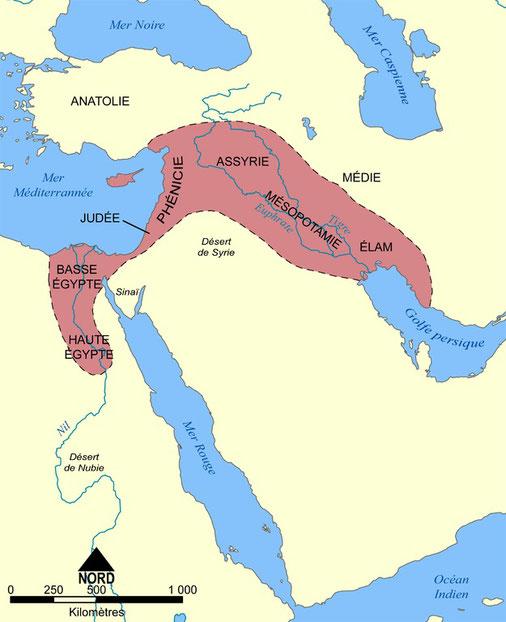 Carte de Mésopotamie histoire du peuple d'Israël