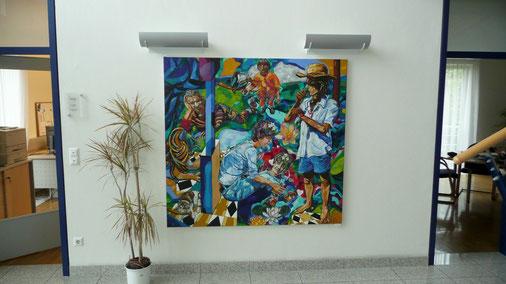 """Mag. art. Matthias Laurenz Gräff. Gemälde """"VIVO"""" in der Grazer Firma ISA GmbH"""