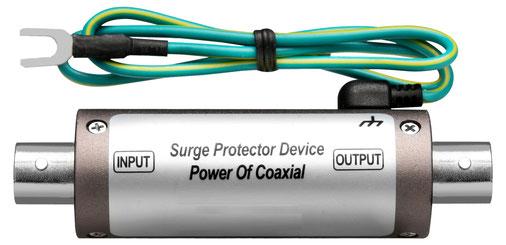 AHD・TVI・EX-SDI・CVBS・電源重畳 ・VP対応 サージ保護装置 サージプロテクター 本体写真01