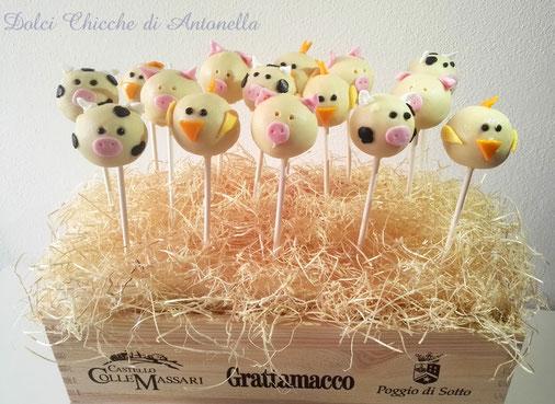 cake pops animali-fattoria-dolci-compleanni-sweet table-eventi-la spezia-liguria