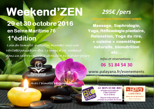 weekend - relaxation - massage - bien-être - yoga - bionutrition - yoga du rire