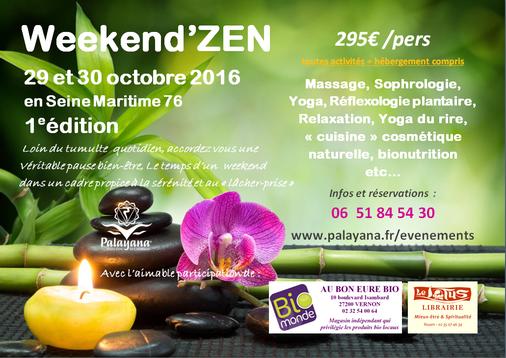 weekend - relaxation - massage - bien-être - yoga - bionutrition - yoga du rire