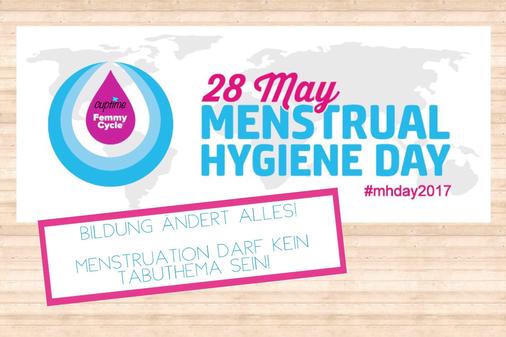 cuptime menstrualhygieneday mhd monatshygiene indien afrika mädchen frauen blutung periode aufklärung bildung freebleed zerowaste müll umwelt