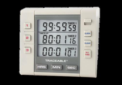 Timer contador de tres canales con certificado trazable a NIST 5000
