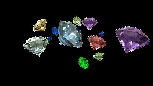La Bible parle des 4 pierres précieuses (émeraude, diamant, rubis et saphir), de nombreuses pierres fines (jaspe, onyx, sardoine, améthyste, topaze, cornaline, chrysolite, agate, opale, escarboucle, calcédoine, chrysoprase, béryl;hyacinthe...