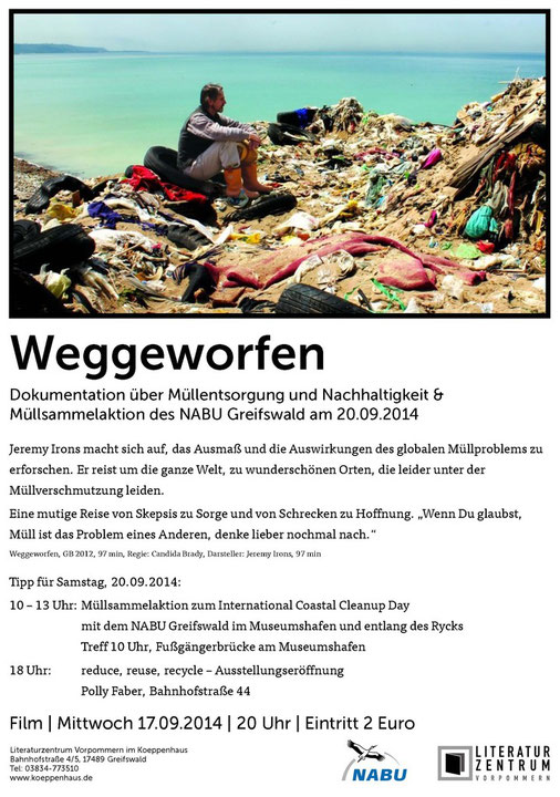 Plakatentwurf: Kati Mattutat, Literaturzentrum Vorpommernn