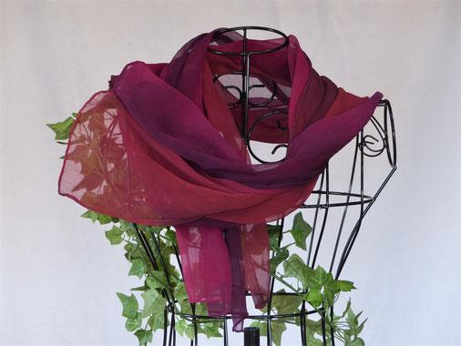 Schal Scarletta pflanzengefärbt