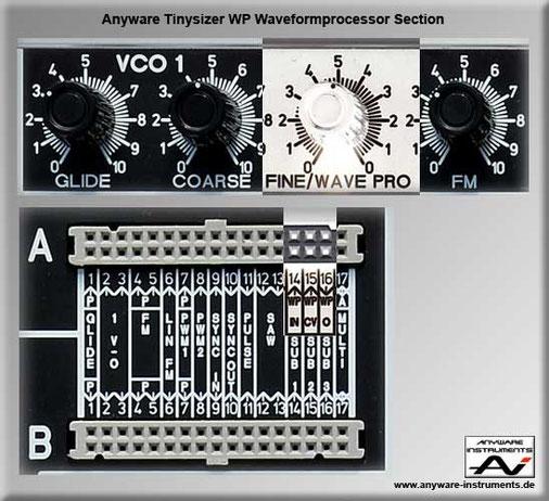 TINYSIZER - 1 X control voltage CV - waveformprocessor - waveshaper