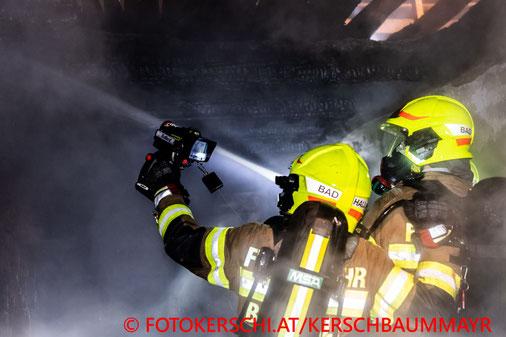 Feuerwehr, Blaulicht, Brand, Vierkanthof, Bad Hall