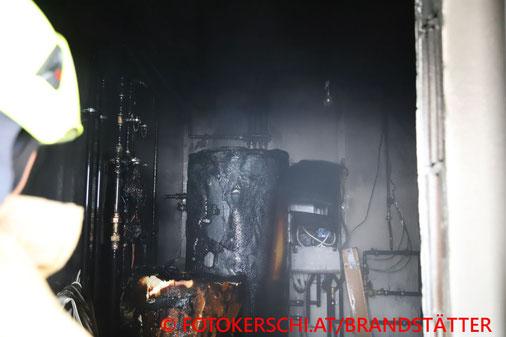 Feuerwehr, Blaulicht, Fotokerschi.at, Brand, Heizraum, Perg