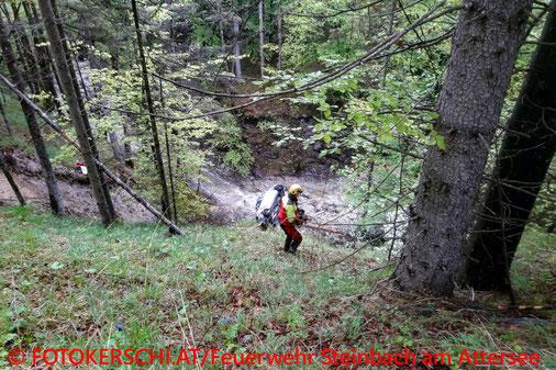 Feuerwehr; Blaulicht; Fotokerschi.at; Unfall; PKW; 50 Meter Tiefe;