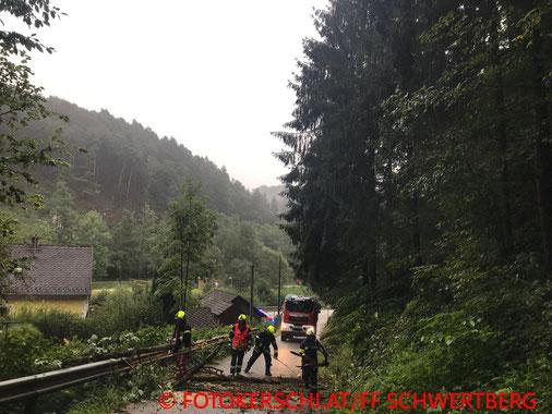 Feuerwehr, Blaulicht, Fotokerschi.at, Unwetter, Bäume auf Straße, LKW, Hydrauliköl