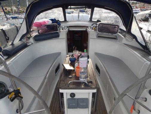 Segeltörn, Segelurlaub mitmachen auf einer schönen Segelyacht mit ausreichend Platz an Bord.
