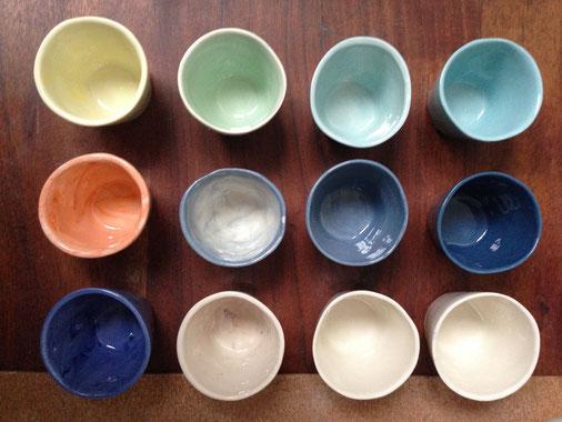 Petites tasses à café. Porcelaine. Brigitte Morel