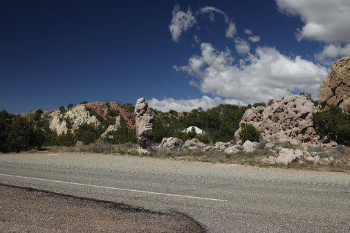 Turquoise Trail between Santa Fe and Albuquerque, landscape in New Mexico, USA