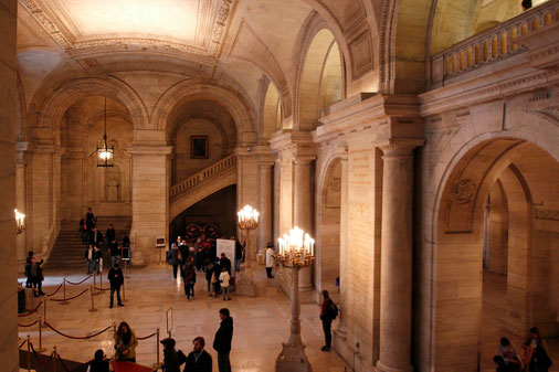 Entrance hall of the Public Library of New York