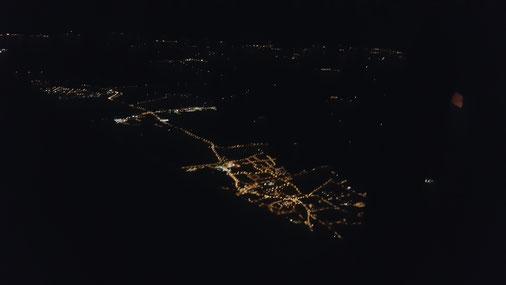 Ville de Guer la nuit