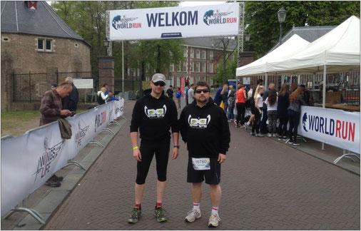 Bernhard (rechts) hat einen besonderen Charity-Run ins Leben gerufen. Und jeder kann ihn unterstützen!