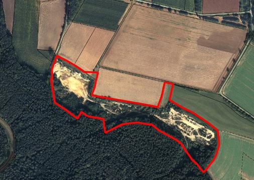 Geschützter Landschaftsbestandteil - Sandgrube in der Gemarkung Gärtenroth