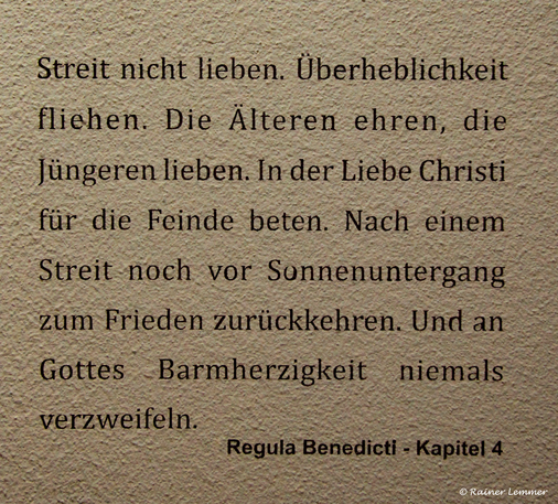 Regula Benedicti - Kapitel 4