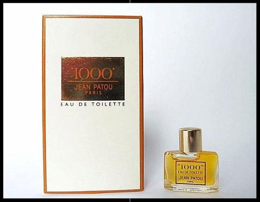"""""""1000""""  DE JEAN PATOU - EAU DE TOILETTE  : A NOTER MINIATURE DIFFERENTE DE LA PRECEDENTE"""
