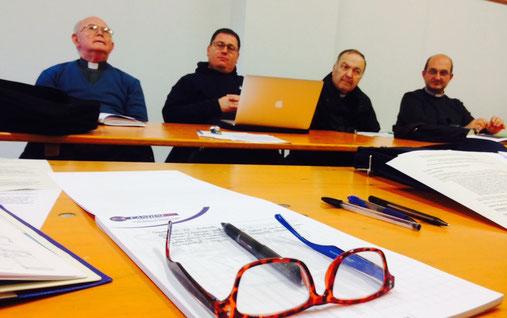 Padulle, incontro vicariale: don Guido, don Gianluca, don Giuseppe, don Simone ...