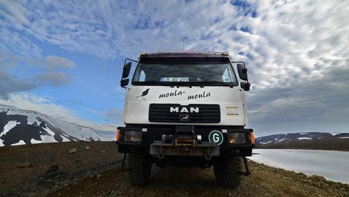 Wir fahren mit Moula Moula weiter nach Westen, auf die Halbinsel Snaefellsnes.