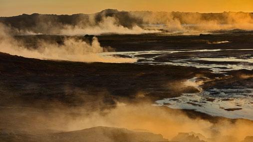 Im Quellgebiet Reykjanesviti. Ein Schauspiel der Solfatare von Gunnuhver