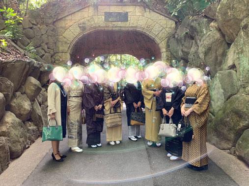 大山崎山荘美術館、入り口で撮影した写真
