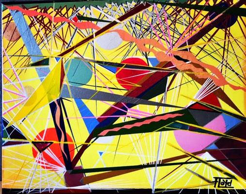"Bild ""ENTROPIE 3"" Unikat 11/2019 - Andreas Alka - alias ""FLoYd"" - 50 x 40 cm."