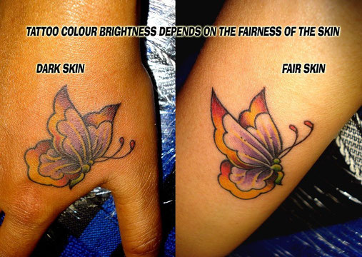 Color Tattoos On Dark Skin Spamalotlondon Colour