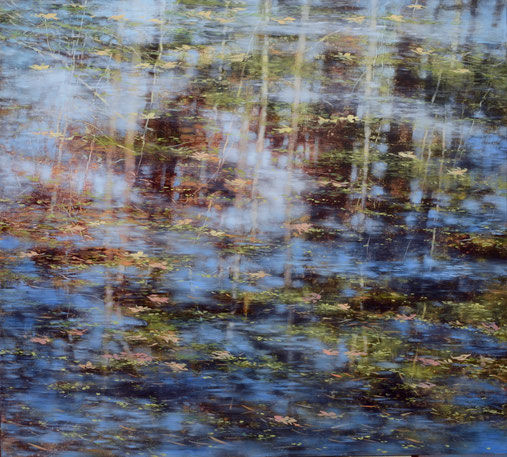 "Teri Malo, ""Drift,"" 2019, oil on panel, 32 x 46 inches, $7,000"