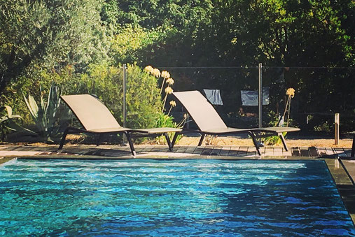 Jardin privé tropical, terrasse design aix en provence
