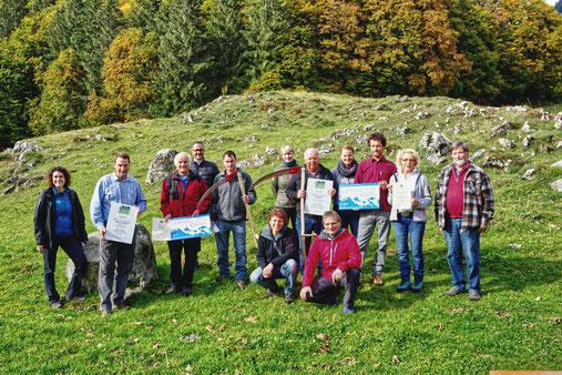 Siegerfoto (v.li): Heinz von Allmen (Alp Biglen) und Stephan Wyss (Syteli/Understock)