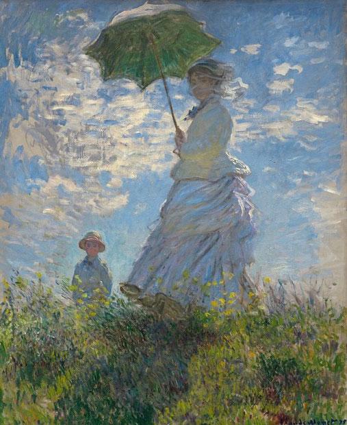 Прогулка. Дама с зонтиком - Клод Моне. Моне - известные работы с описанием
