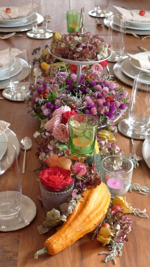Dekoration - Herbstliche Tischdekoration