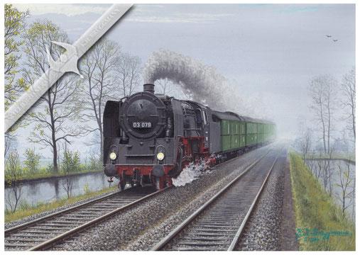 03 079 Schnellzug Hamburg-Westerland,  Aquarell