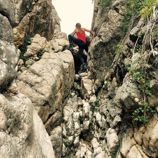Klettern in der Vrzenica-Schlucht auf Krk