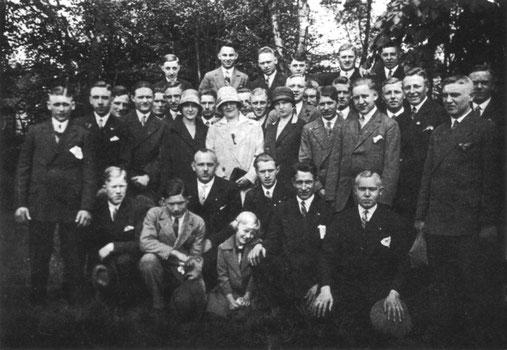 Mitglieder des SV Geisecke um 1927