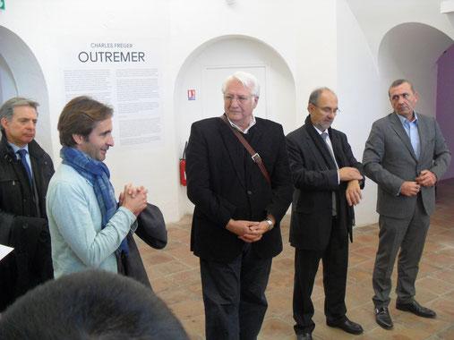les représentants du COnseil Général et du Conseil Régional avec le Vice Président des Francas