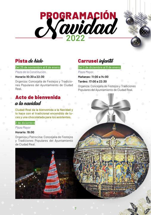 Programa de navidad en Ciudad Real