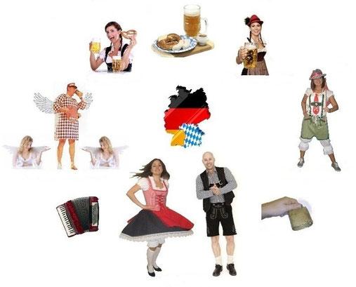 bayerische Show, Volkstanz, Tradition, Persiflagen