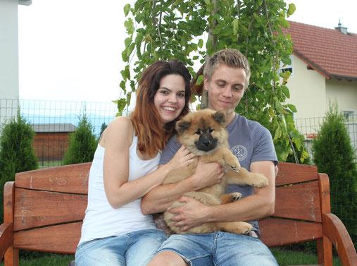 Abschiedsfoto:  AMARETTA mit ihrer neuen Familie ❤