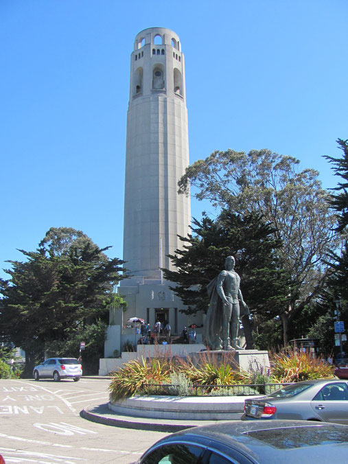 La Coit Tower au sommet de telegraph Hill