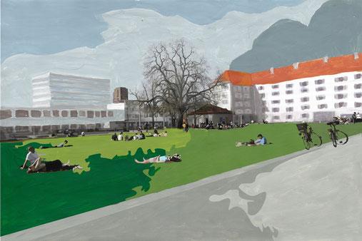 Westnacht Kunstdruck aufgezogen auf Alu Dibond NAachtstimmung über Zürich
